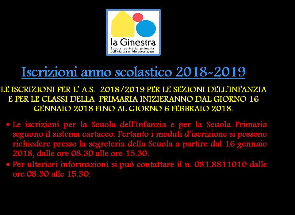 Apertura Iscrizioni a.s. 2018/2019